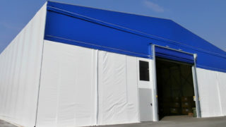 Capannone mobile, tunnel hangar, situato a Vicenza