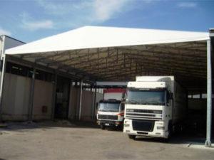 Tunnel mobile doppio zoppo coperture industriali Bologna Ferrara Modena Reggio Emilia
